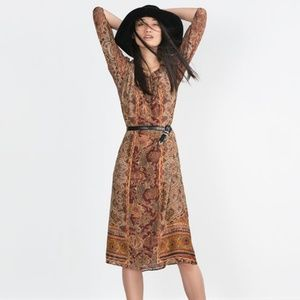 Zara Boho Long Sleeve Dress